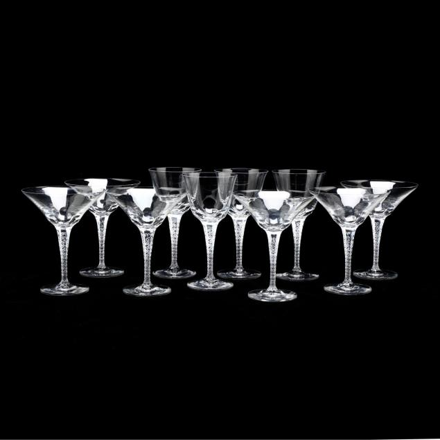 lalique-treves-ten-pieces-of-stemware