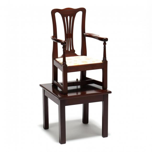 chippendale-style-child-s-chair-on-stand