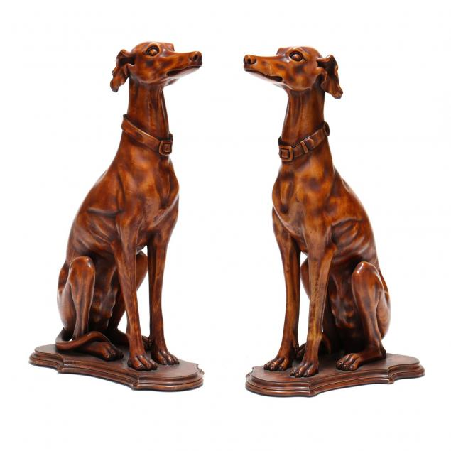 pair-of-carved-wood-hounds