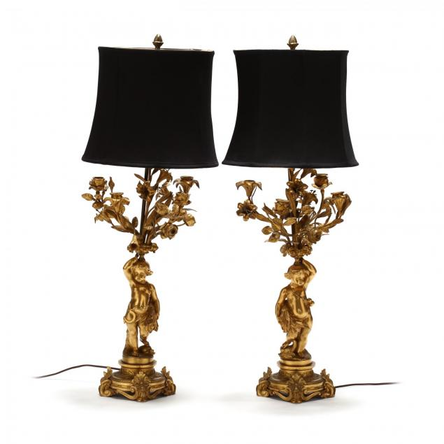pair-of-italian-dore-bronze-figural-table-lamps