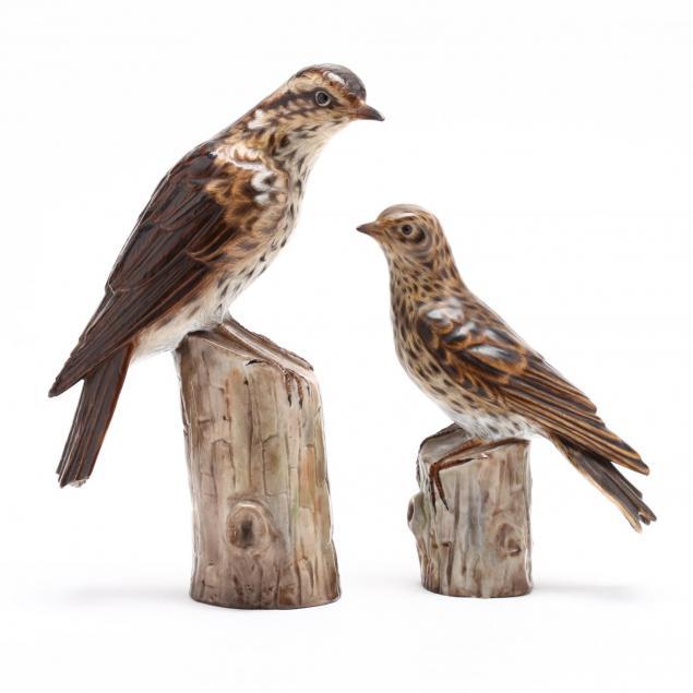 two-ernst-bohne-sohne-porcelain-bird-figures