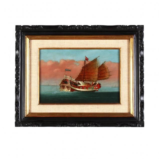 a-china-trade-painting-of-a-junk-19th-century