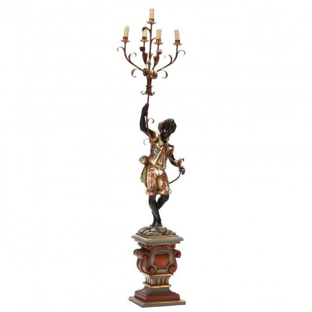 venetian-carved-and-painted-blackamoor-lamp