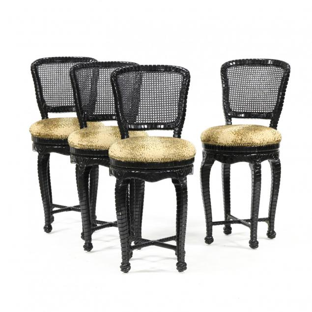 set-of-four-hollywood-regency-swivel-bar-stools