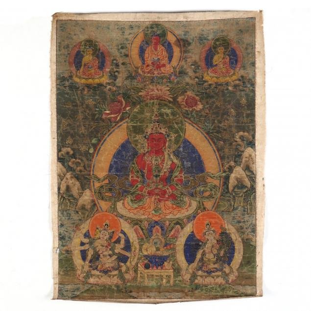 a-tibetan-thangka-of-the-buddha-amitayus