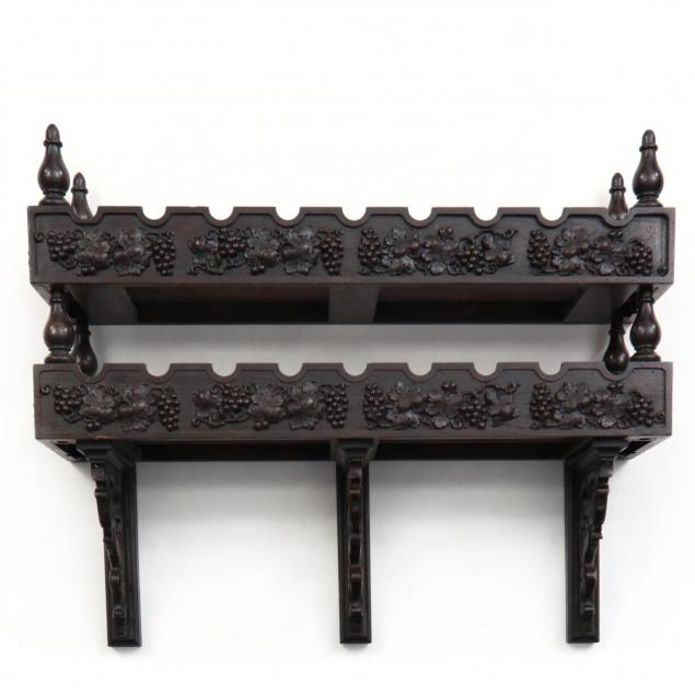 contemporary-carved-oak-vintner-s-display