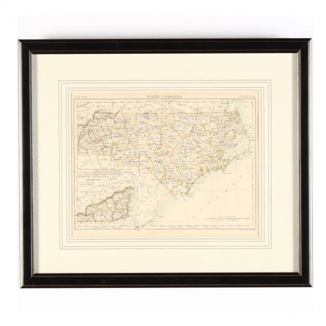 19th-century-w-a-k-johnston-map-of-north-carolina