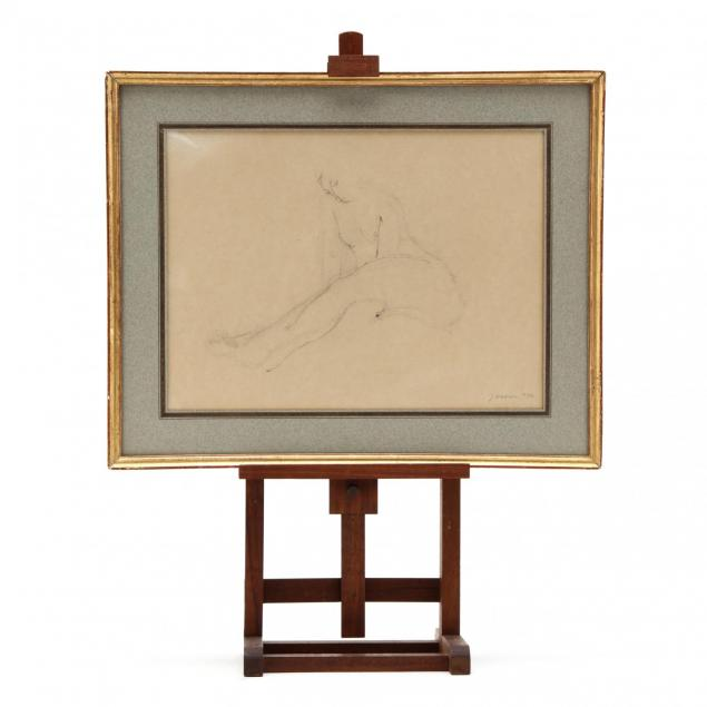 jeanne-daour-romanian-20th-c-sketch-of-a-female-nude-with-easel