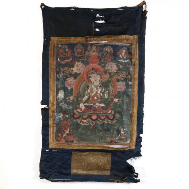 a-sino-tibetan-thangka-of-white-tara