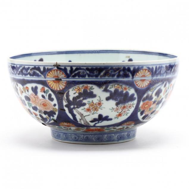 antique-imari-porcelain-punch-bowl