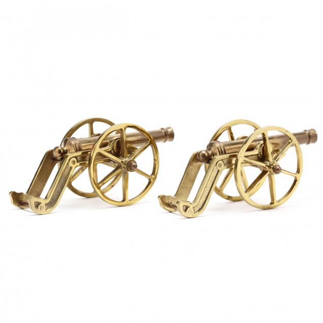 pair-of-decorative-desk-top-brass-cannons
