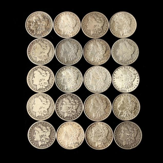 twenty-mixed-morgan-silver-dollars