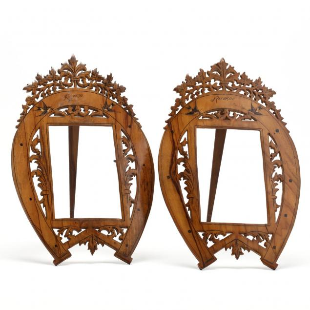 pair-of-antique-carved-and-painted-wood-picture-frames