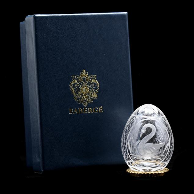 faberge-crystal-swan-petite-egg-on-stand