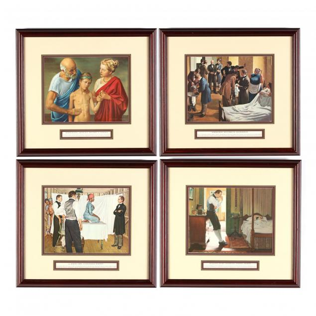 after-robert-thom-mi-1915-1979-four-prints-from-i-the-history-of-medicine-i