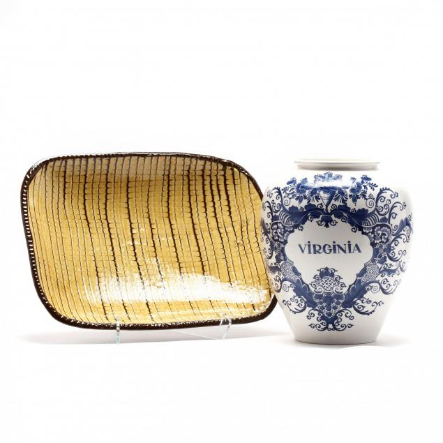 two-pieces-of-colonial-williamsburg-pottery