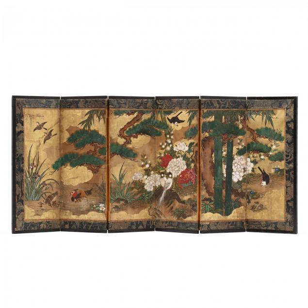 antique-chinese-miniature-six-panel-folding-screen