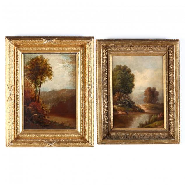 two-american-school-landscape-paintings