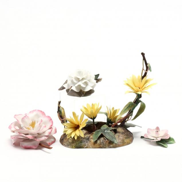 boehm-four-flower-sculptures