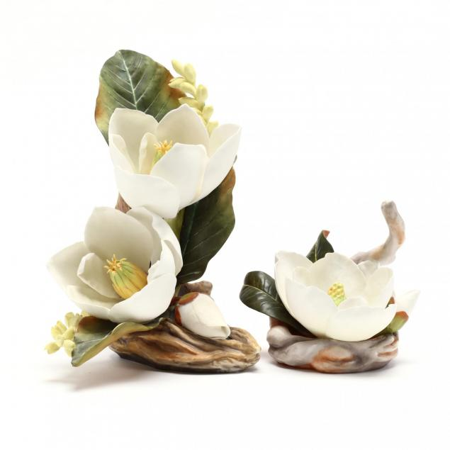 boehm-two-flower-sculptures