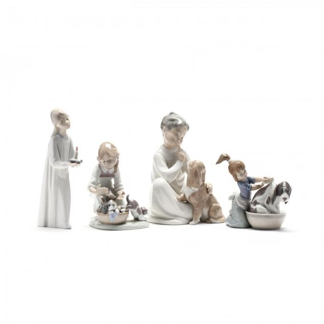 lladro-four-sculptures-of-children