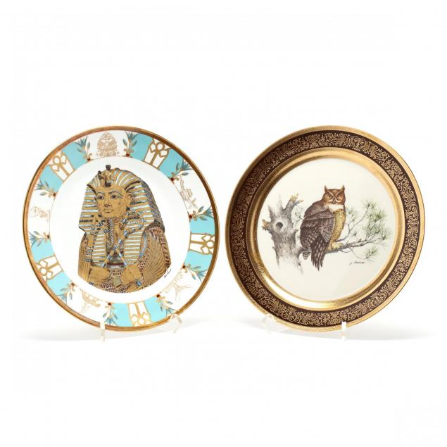 two-vintage-cabinet-plates