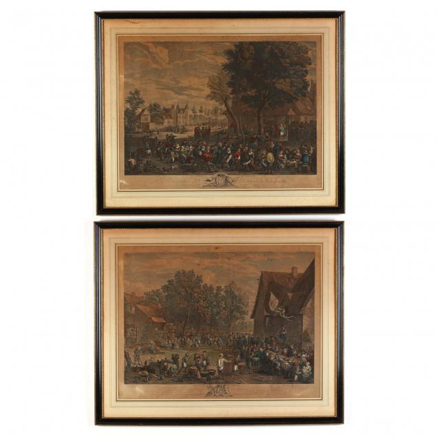 after-david-teniers-the-younger-flemish-1610-1690-two-engravings-from-i-fete-flamande-i