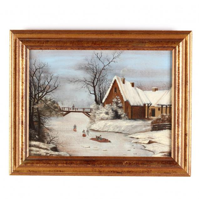 an-antique-dutch-school-painting-of-a-skating-party
