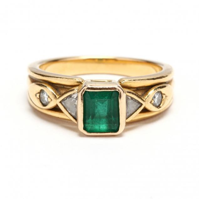 18kt-gold-emerald-and-diamond-ring