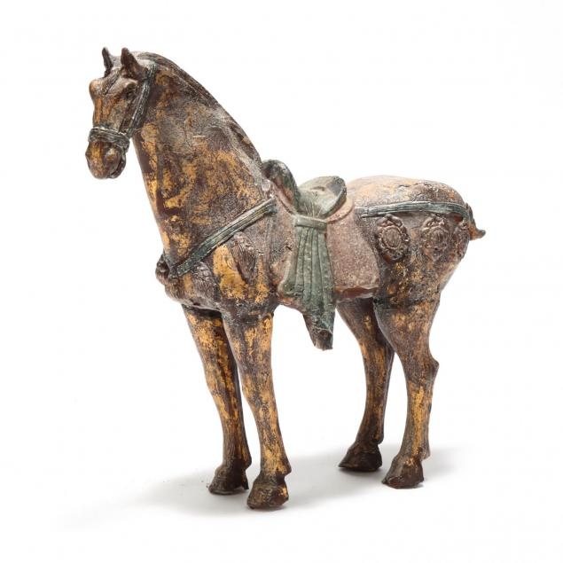 cast-and-painted-iron-tang-style-horse
