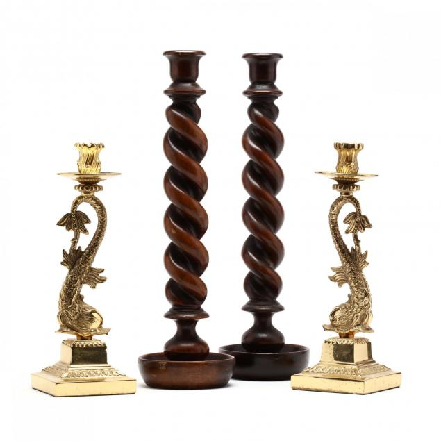 two-pair-of-decorative-candlesticks