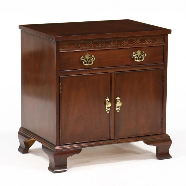 baker-chinese-chippendale-style-bedside-cabinet