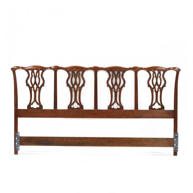 baker-chippendale-style-king-size-carved-mahogany-headboard