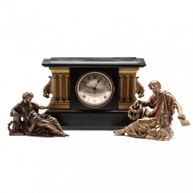seth-thomas-classical-style-mantle-clock-with-two-figures