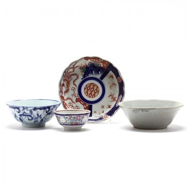 four-antique-asian-porcelain-bowls