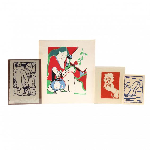 jack-stratton-nc-b-1953-four-linocuts