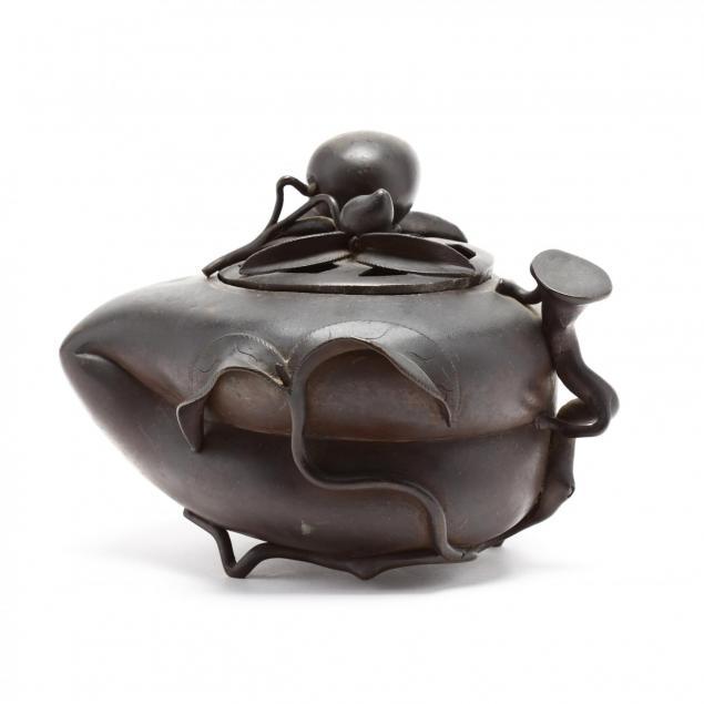 a-chinese-bronze-censer-in-peach-shape