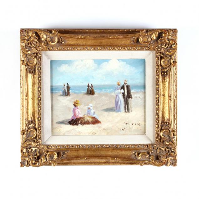 a-contemporary-impressionist-painting-of-figures-by-the-seashore