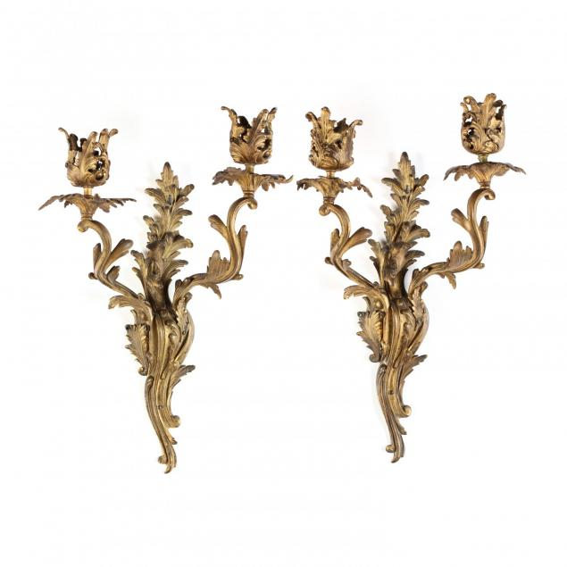 a-pair-of-louis-xv-gilt-metal-wall-sconces