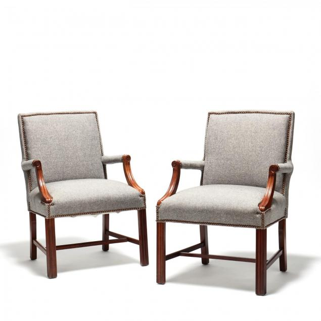 a-pair-of-chippendale-style-upholstered-arm-chairs