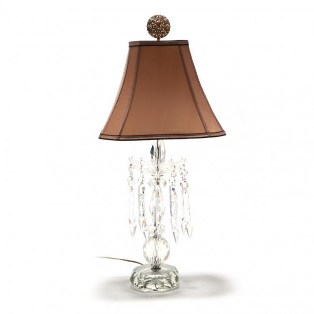 vintage-cut-glass-drop-prism-table-lamp