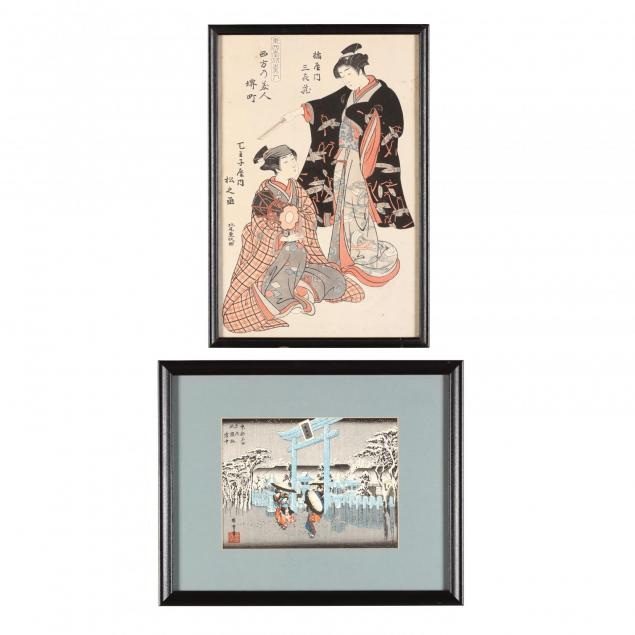 two-japanese-woodblock-prints
