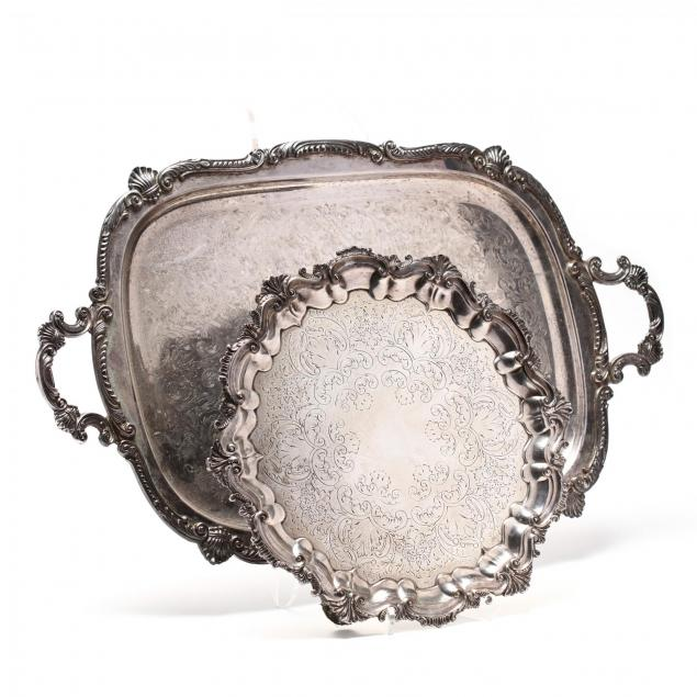 two-silverplate-serving-trays