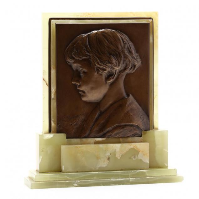 alphonse-mauquoy-belgian-1880-1954-portrait-plaque-of-a-young-boy