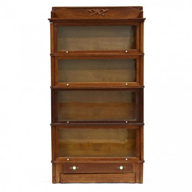 wernicke-no-7-oak-barrister-bookcase