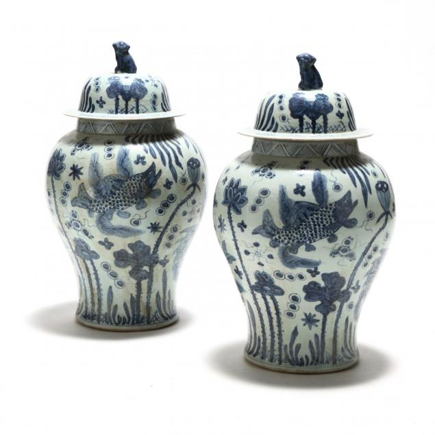 a-pair-of-chinese-blue-and-white-temple-jars