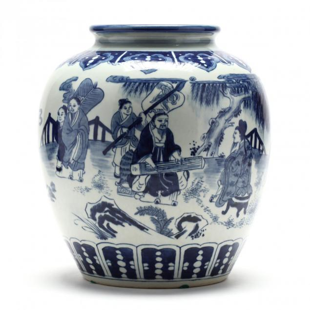 a-large-chinese-blue-and-white-porcelain-vase
