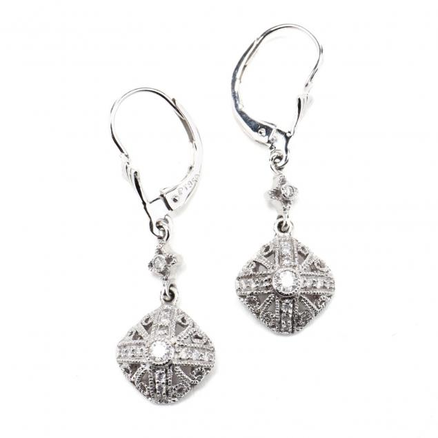 pair-of-platinum-and-diamond-earrings