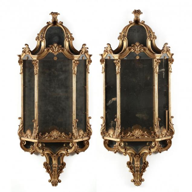 pair-of-classical-carved-and-gilt-mirrored-wall-mount-shelves