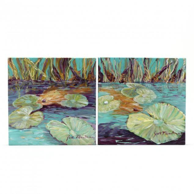 jill-troutman-nc-a-garden-pool-diptych